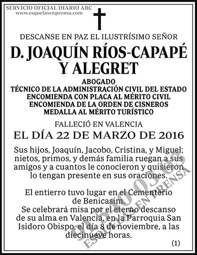 Joaquín Ríos-Capapé y Alegret